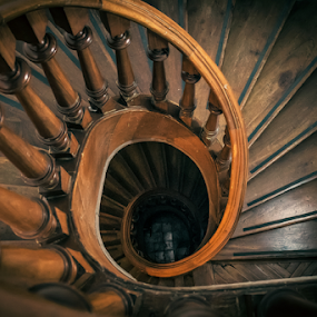 Spiral Stairs by Edi Libedinsky - Buildings & Architecture Architectural Detail ( old, stairs, wood, atmosphere, spiral,  )