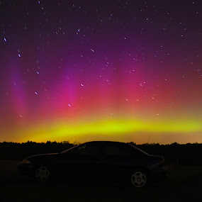 Auroras in Ohio by Aaron Rigsby - Landscapes Starscapes ( auroras, ohio, northern lights )