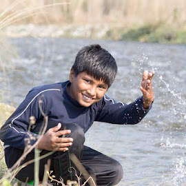 Happiness of Kids by Santosh Singh - Babies & Children Children Candids ( kids with smile, kids play, happiness, kids, nature and smile, happiness in nature,  )