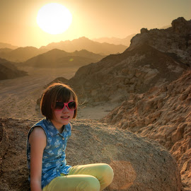 Sinai Sunset by Graeme Murray - Landscapes Deserts ( mountains, desert, sunset, landscape, portrait, egypt,  )