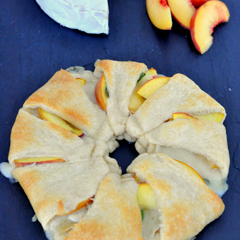 Peach Brie Crescent Ring