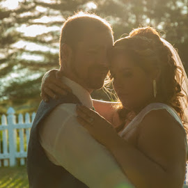Wedding Bliss by Chris Cavallo - Wedding Bride & Groom ( wedding photography, maine, weddings, wedding day, wedding, bride and groom, bride, groom, golden hour )