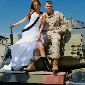 Military Trash The Dress by Danniel McKnight - Wedding Bride & Groom