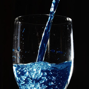 blue by Christian Setiawan - Artistic Objects Glass ( water, blue, freeze, still life, glass )