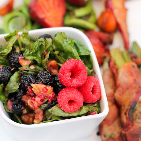 Mulberry Spinach Salad
