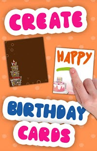 Create birthday cards - screenshot