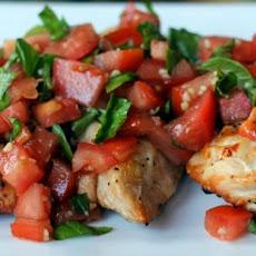Chicken Gorgonzola Bruschetta Garlic Toast Recipes — Dishmaps