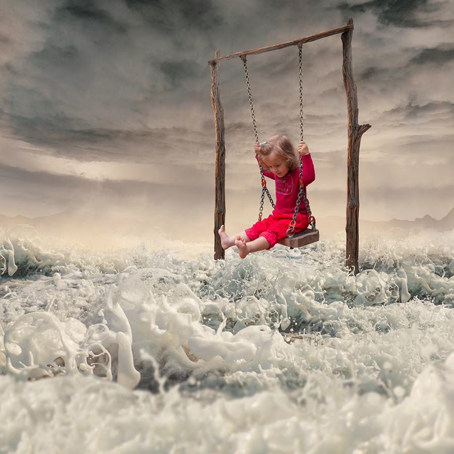 Happy feet by Caras Ionut - Digital Art Things ( water, tutorials, ioana, carasdesign, stone, line, ocean, manipulation, captain, psd, caras ionut, tools, traveling, rolling, chain, metal, buildings, pallet, trip, high, antena, photoshop, baby bubble )
