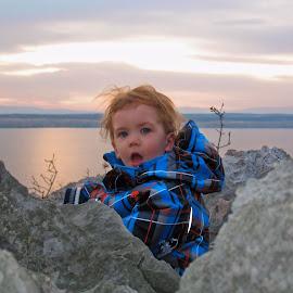 Marcello by Dalibor Jud - Babies & Children Child Portraits ( adriatic, crikvenica, sunset, zalazak, croatia, sea, kačjak, marcello, sunca, jud )