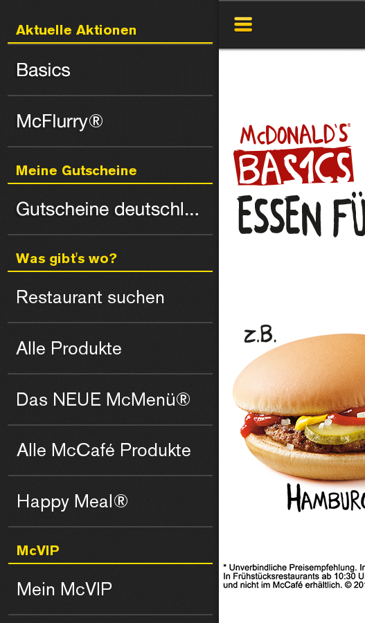 McDonald's Deutschland Screenshot 0