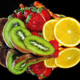 multicolored fruits by LADOCKi Elvira - Food & Drink Fruits & Vegetables ( fruits )