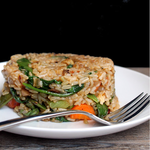 Healthy Fried Brown Rice (Vegan)
