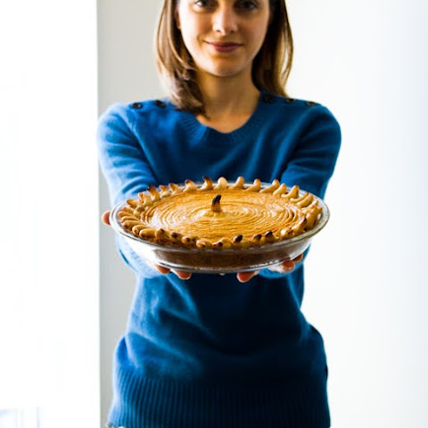 Homemade Pumpkin Pie with Gingersnap Crust