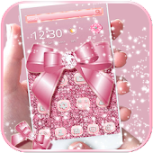 Rose gold diamond Bow Theme APK for iPhone