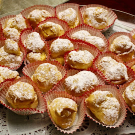 Cream puffs. by Peter DiMarco - Food & Drink Candy & Dessert ( sweets, food, pastry, cream, dessert )