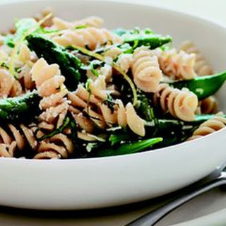 Whole-Grain Rotini with Asparagus and Snap Peas