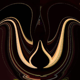 The Chocolate Kiss by Yvonne Collins - Digital Art Abstract ( edited, abstract, digital art, chocolate kiss, photography )
