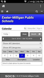 Exeter-Milligan Public Schools - screenshot