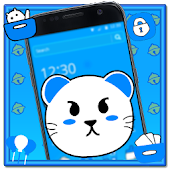 Free Download Blue Cat Anime Theme APK for Samsung