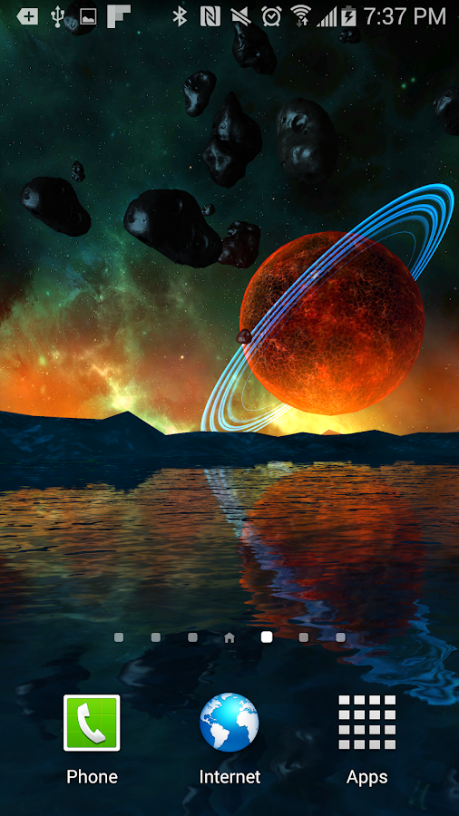Far Galaxy 3D Live Wallpaper Screenshot 2
