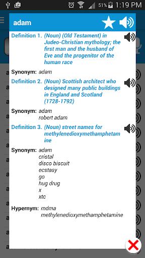 English Dictionary: Pro - screenshot