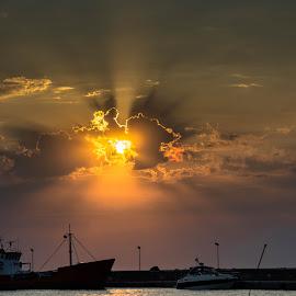 Sunset summer by Gloria Melman - Landscapes Weather ( clouds, sunset, summer, landscape, evening )