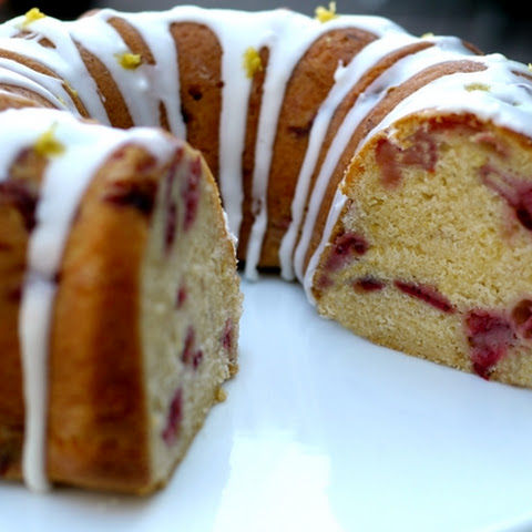 Strawberry Lemon Cream Cheese Pound Cake
