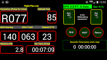 Screenshot of VFR Nav+ WorldWide GPS Air NAV