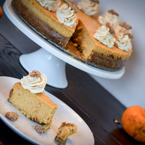 Creamy Pumpkin Cheesecake w/ Vanilla whipped cream