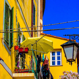 Yellow  by Marina Dossi - Buildings & Architecture Other Exteriors ( umbrella, yellow )