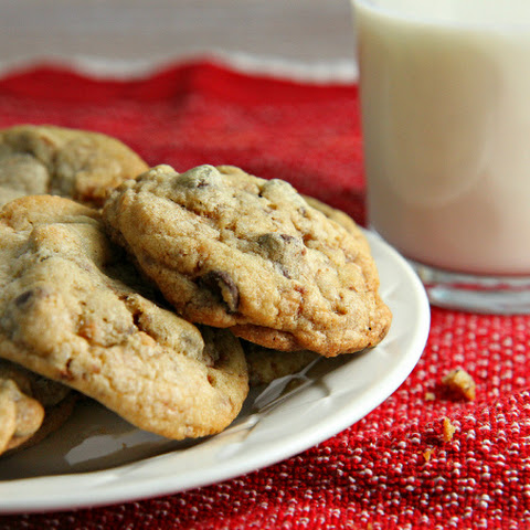 Chocolate Chip Toffee Coffee Cookies
