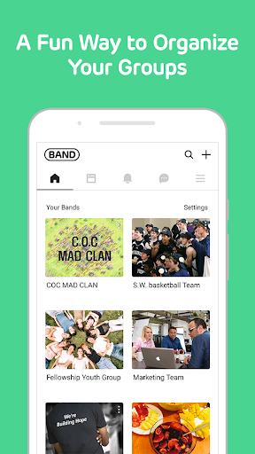 BAND - Organize your groups screenshot 1