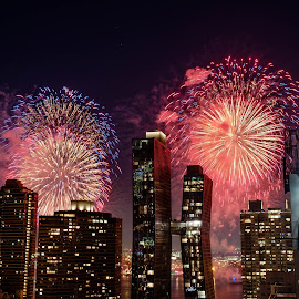 NYC Fireworks! by Will Shuck - City,  Street & Park  Skylines ( fireworks, night, new york, independence day )
