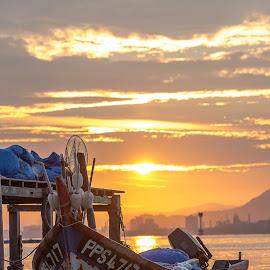 by Lim Keng - Transportation Boats