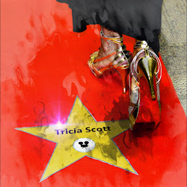 Rural Red Carpet by T Sco - Digital Art People ( shoes, red, red sole, red carpet, star, carpet, walk of fame )