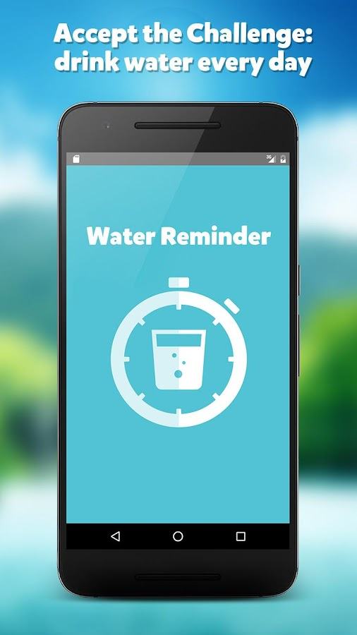 WATER REMINDER CHALLENGE Screenshot 0