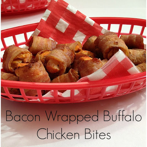 Bacon Wrapped Buffalo Chicken Bites