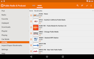 Screenshot of Public Radio & Podcast