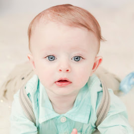 Sweet blue eyes by Jenny Hammer - Babies & Children Babies ( spring, baby, boy, cute, blue eyes )