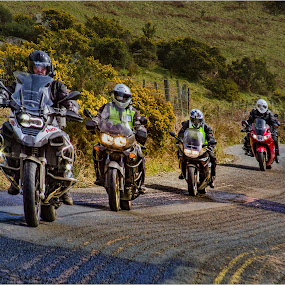 by Stephen Hooton - Transportation Motorcycles ( lakes, places )
