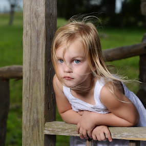 Country Girl by Michael Giardina - Babies & Children Child Portraits