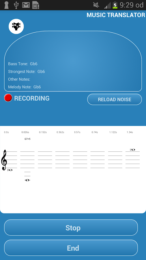 Music Translator (Recognition) Screenshot 1
