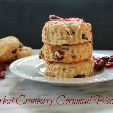 Herbed Cranberry Cornmeal Biscuits