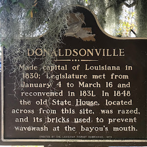Made capital of Louisiana in 1830; Legislature met from January 4 to March 16 and reconvened in 1831. In 1848 the old State House, located across from this site, was razed, and its bricks used to ...