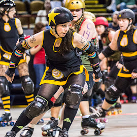 Around the Turn by Michael Stefanich Jr. - Sports & Fitness Other Sports ( #athlete, #sports, #girl, #indoor, #mikestefanichjr, #action, #rollerderby )