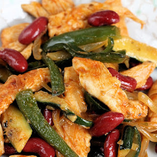 Chicken, Poblano & Bean Stir Fry