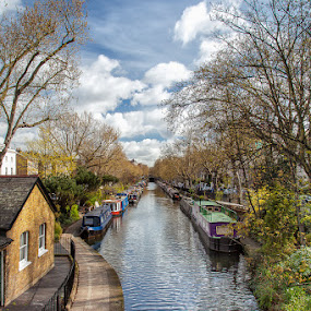 London canal by Lieven Lema - Landscapes Waterscapes ( london, canal )