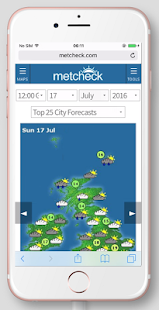 Metcheck 150 Day World Weather screenshot for Android