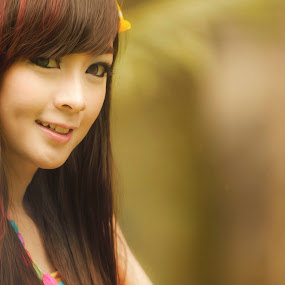 smile of beauty by Lucky  Ariya wijaya - People Portraits of Women