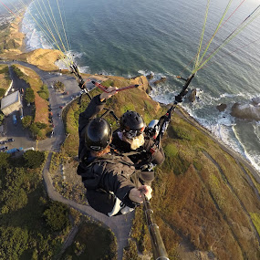 Paragliding in San Francisco by Mike Fifield - Sports & Fitness Other Sports ( flight, tandem, extreme, paragliding, gopro, ocean, san francisco )